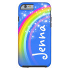 Your name 5 letter rainbow blue tough iphone case