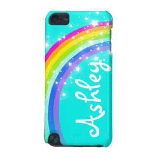 """""""Your name"""" (6 letter) rainbow aqua ipod case iPod Touch 5G Cover"""