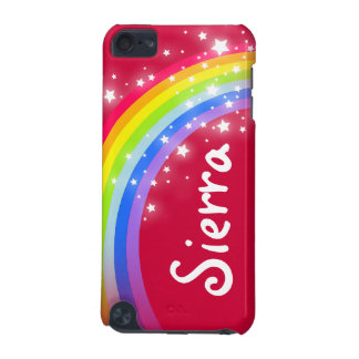 """Your name"" (6 letter) rainbow red ipod case"