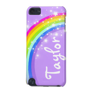 """""""Your name"""" (6 letter) rainbow violet ipod case iPod Touch 5G Covers"""
