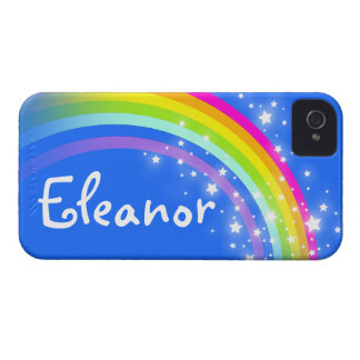 """""""Your name"""" (7 letter) rainbow blue iphone case"""