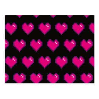 Your Name 8-Bit Love Pink Postcard