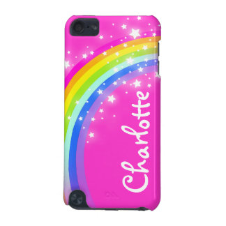 """""""Your name"""" (9 letter) rainbow pink girl ipod case iPod Touch 5G Cover"""