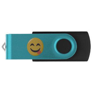 """Your Name"" and Emoji Swivel USB 3.0 Flash Drive"