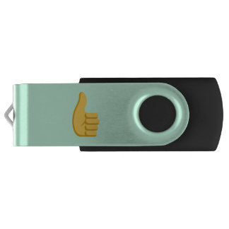 """Your Name"" and Emoji Swivel USB 3.0 Flash Drive"