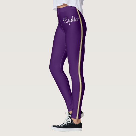 Your Name and Gold School Stripe Leggings