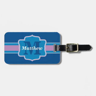 Your Name and Monogram Personalized Luggage Tag