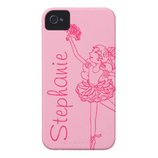 """""""Your name"""" ballerina pink iphone4S barely case iPhone 4 Case-Mate Cases"""