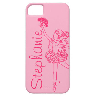 """Your name"" ballerina pink iphone 5 case"