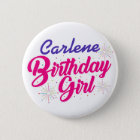 ( Your Name ) Birthday Girl 6 Cm Round Badge