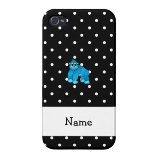 Your name blue gorilla black white polka dots iPhone 4/4S cover