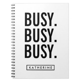 Your Name | Busy Busy Busy Notebook