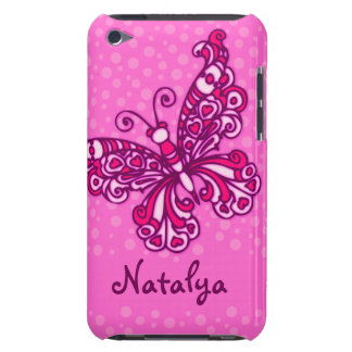 Your name butterfly pink barely ipod touch case