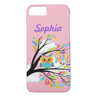 Your Name Colorful Owl Protective Cover