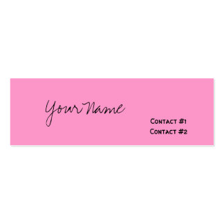 Your Name, Contact #1, Contact #2 Pack Of Skinny Business Cards