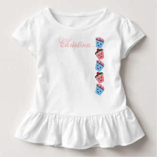 Your Name-Cute Kawaii Cupcakes Toddler T-Shirt