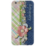 Your Name Cute Polka Dots Pastel Floral Pattern Barely There iPhone 6 Plus Case