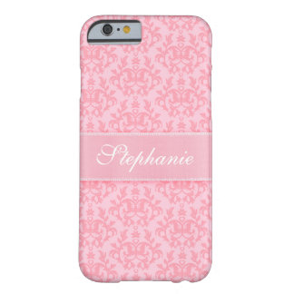 """Your name"" damask light pink iPhone 6 case Barely There iPhone 6 Case"