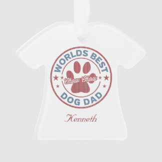 Your Name Dog Dad Chow Chow Ugly Sweater Ornament