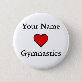 (Your Name) Hearts Gymnastics 6 Cm Round Badge