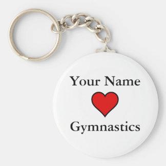 (Your Name) Hearts Gymnastics Key Ring