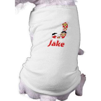 Your Name Here! Custom Letter J Teddy Bear Santas Shirt