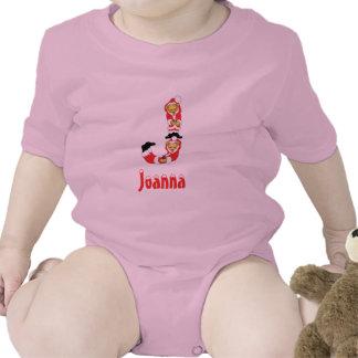 Your Name Here! Custom Letter J Teddy Bear Santas T-shirt