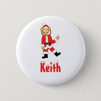 Your Name Here! Custom Letter K Teddy Bear Santas 6 Cm Round Badge