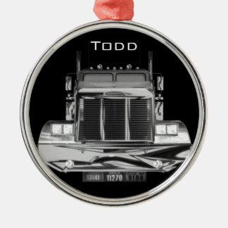 YOUR NAME HERE - Custom Rear-View Mirror Truck Christmas Ornament