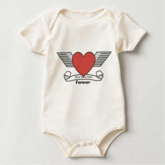 [Your Name Here] Forever Heart Tattoo Baby Bodysuit