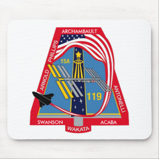 YOUR_NAME_HERE STS-119 Logo Mouse Pad