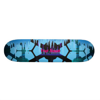 Your Name Ice Melt Skate Board