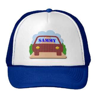 Your name in Car window-hat