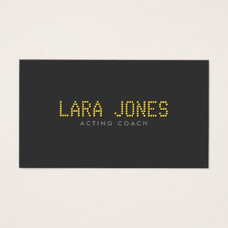 Your Name in Lights for Actors, Performers, Dance Business Card