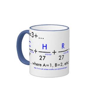 Your name in pi - customizable coffee mugs