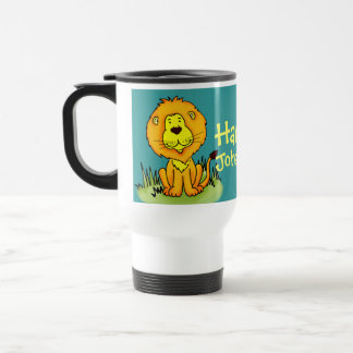 """Your name""  kids lion travel / club mug"
