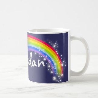 """""""Your name"""" kids rainbow navy mug"""