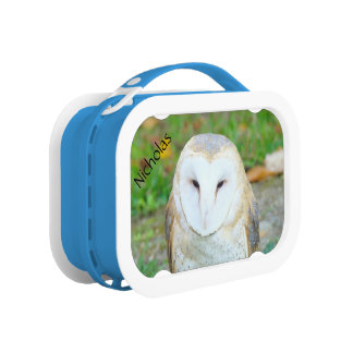 Your Name Lunch Boxes Wildlife White Owl