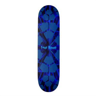 Your Name Modern Blue Skate Board Deck