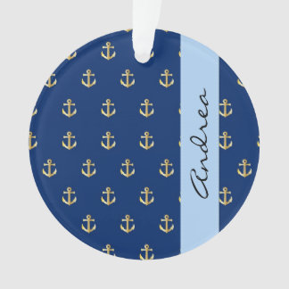 Your Name - Nautical Anchors (Boat Anchors) - Gold