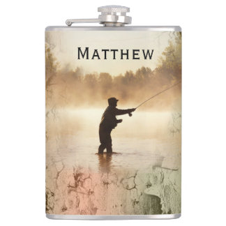 Your Name on Gone Fishing Flask
