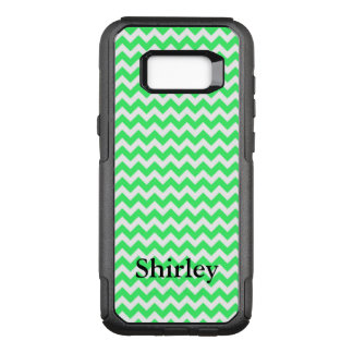 Your Name on Light Green Chevron OtterBox Commuter Samsung Galaxy S8+ Case