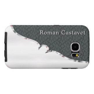 Your name on sturdy faux silver and velvet samsung galaxy s6 cases