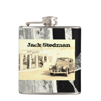 Your Name on this Retro Sedan Flask