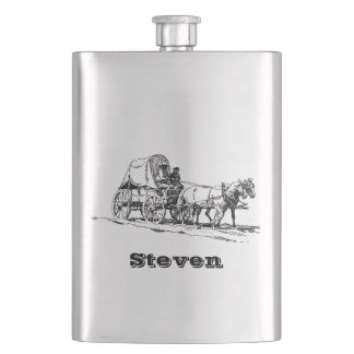 Your Name on this Stagecoach Flask