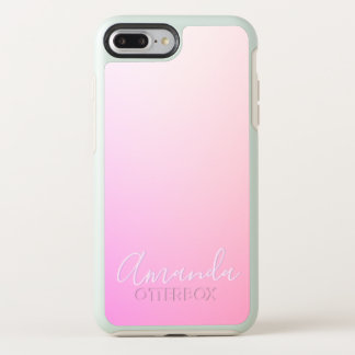 Your Name or Word   Pink Ombre Gradation OtterBox Symmetry iPhone 8 Plus/7 Plus Case
