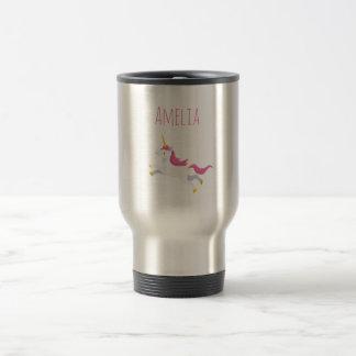 Your Name Personalized Unicorn Travel Mug