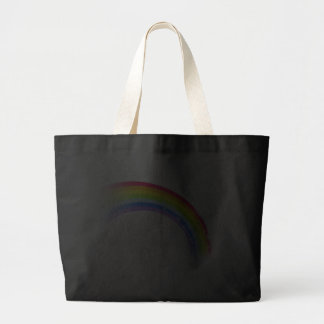 """your name"" rainbow dark tote bag"