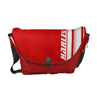 """""""your name"""" red and white sport stripe bag messenger bags"""
