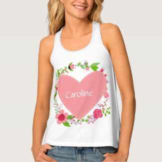 Your Name(s) in a Heart custom tank top